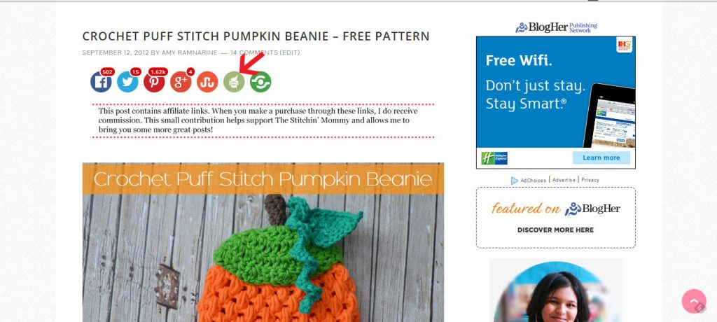 How to Print or PDF Patterns from My Blog www.thestitchinmommy.com