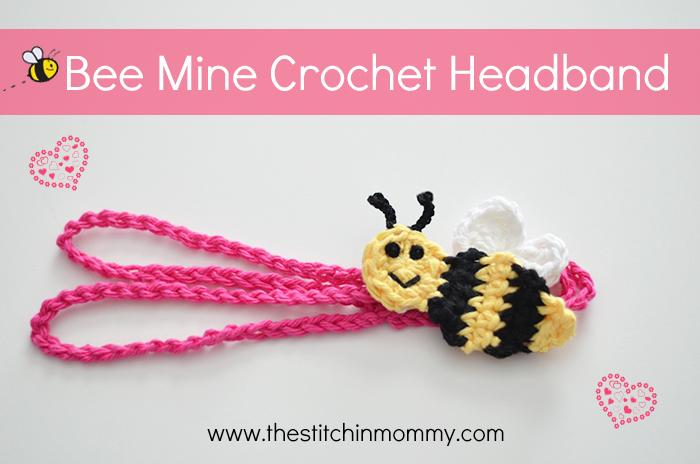 Bee Mine Crochet Headband Free Pattern