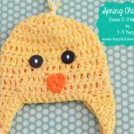 Spring Chick Hat Sizes 0-3 Months to 1-3 Years