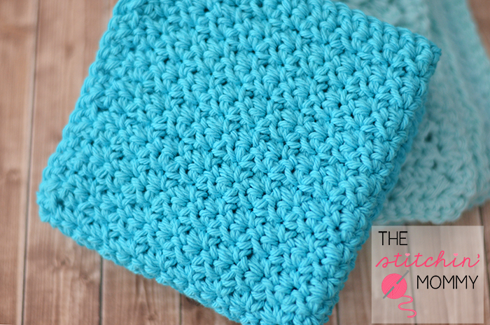 Crochet Stitches Grit : Easy Textured Washcloths - Two Free Patterns - The Stitchin Mommy