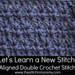 Aligned Double Crochet Stitch Tutorial