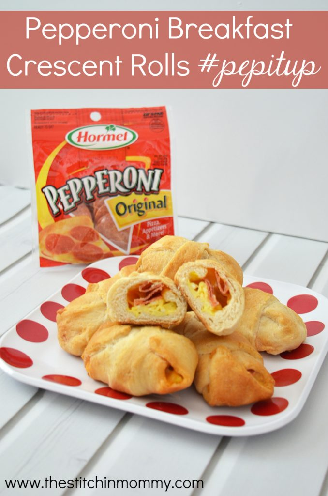 Hormel Pepperoni Breakfast Crescent Rolls #PepItUp #CollectiveBias #ad | www.thestitchinmommy.com