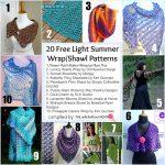 20 Free Light Summer Wrap and Shawl Patterns