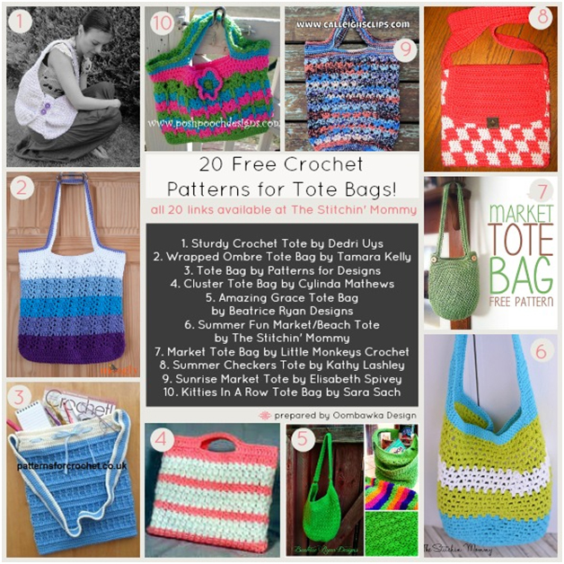20 Free Crochet Patterns For Tote Bags The Stitchin Mommy