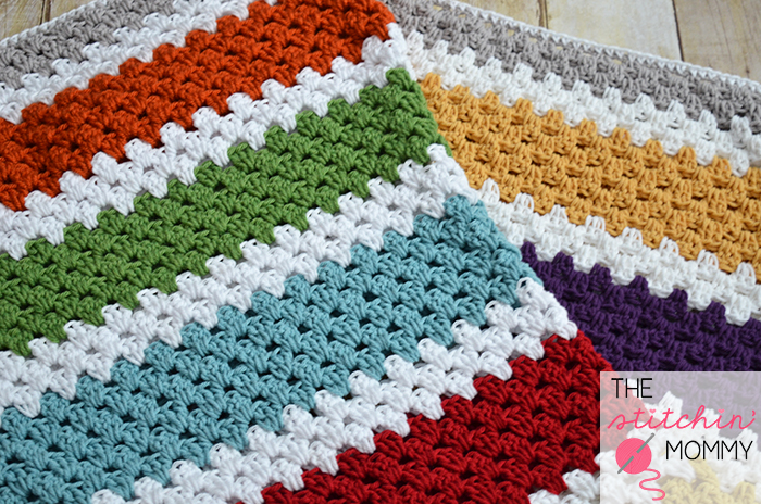 Easy Crochet Striped Afghan Patterns : Stashbuster Granny Stripe Afghan - Free Pattern