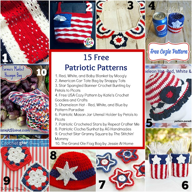 15 Free Patriotic Patterns The Stitchin Mommy
