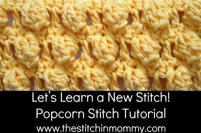 Popcorn Stitch Tutorial Afghan Square