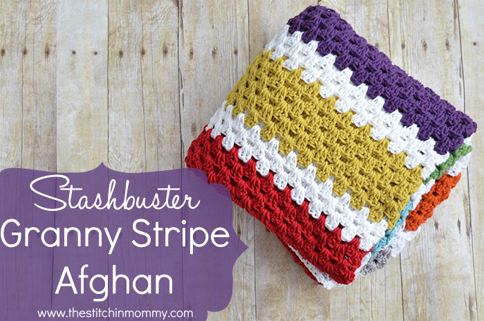 Stashbuster Granny Stripe Afghan - Free Pattern | www.thestitchinmommy ...
