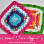 Springtime Lily Pond Afghan Square – Free Pattern
