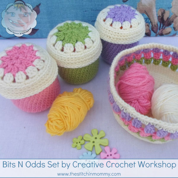 Bits N Odds Set - Free Pattern by Creative Crochet Workshop for The Stitchin' Mommy | www.thestitchinmommy.com