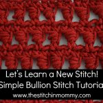 Simple Bullion Stitch Tutorial and Afghan Square