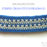 Striped Cross-Stitch Headband – Free Pattern