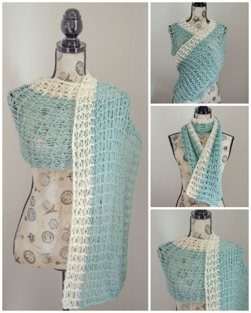 Ocean Breeze Light Summer Wrap - Guest Post for Stitch & Unwind | www.thestitchinmommy.com