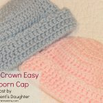 Little Crown Easy Newborn Cap – Free Pattern