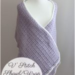 V Stitch Shawl/Wrap – Guest Post by Cream of the Crop Crochet