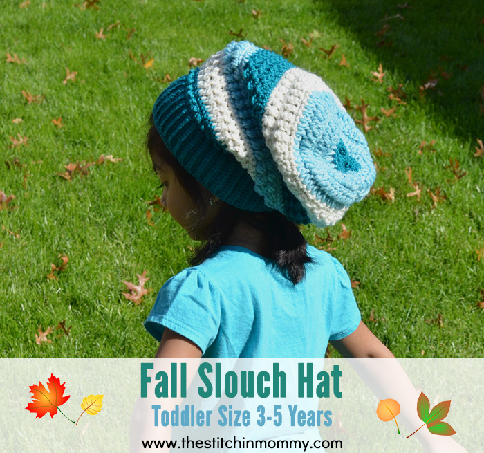 Fall Slouch Hat - Toddler Size 3-5 Years | www.thestitchinmommy.com