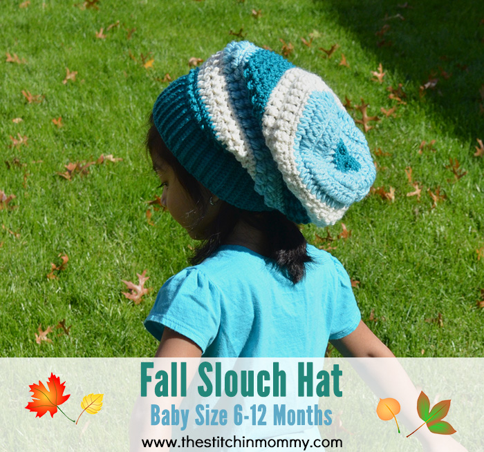 Fall Slouch Hat - Baby Size 6-12 Months | www.thestitchinmommy.com