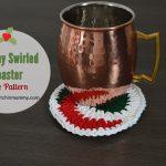 Holiday Swirled Coaster – Free Pattern