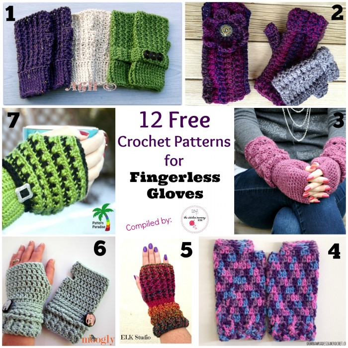 Crochet Fingerless Gloves Tutorial Butterfly Stitch : 12 Free Crochet Patterns for Fingerless Gloves - The ...