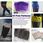 15 Free Patterns for Crochet Boot Cuffs