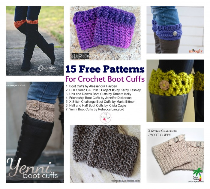 15 Free Patterns For Crochet Boot Cuffs The Stitchin Mommy