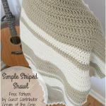 Simple Striped Shawl – Free Pattern