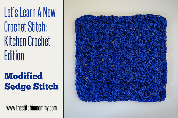 Modified Sedge Stitch Tutorial And Dishcloth Pattern The Stitchin
