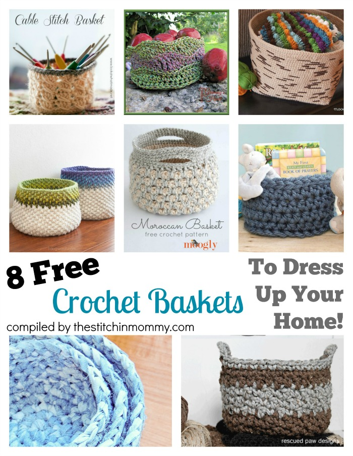 Free Printable Crochet Basket Patterns : 8 Free Crochet Basket Patterns To Dress Up Your Home ...