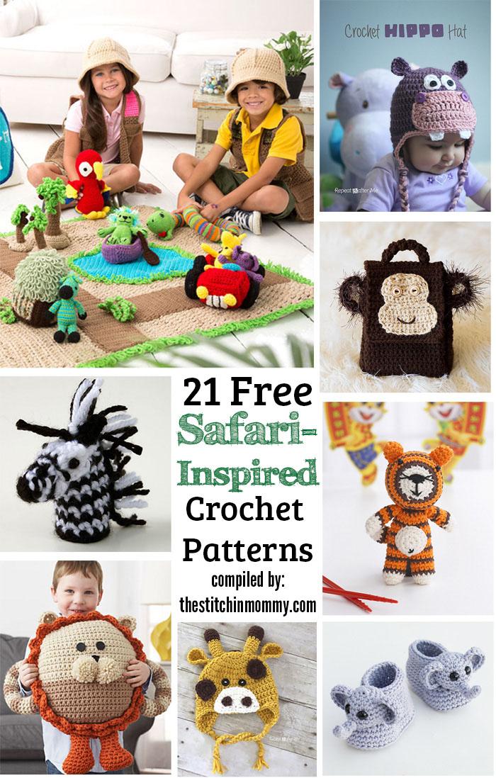 21 Free Safari Inspired Crochet Patterns The Stitchin Mommy
