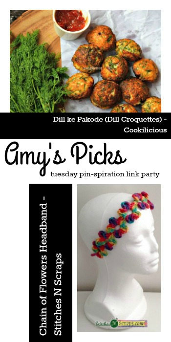Amy's Picks | Dill ke Pakode/Chain of Flowers Headband | Tuesday PIN-spiration Link Party www.thestitchinmommy.com