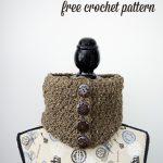 Barley Button Cowl – Free Crochet Pattern
