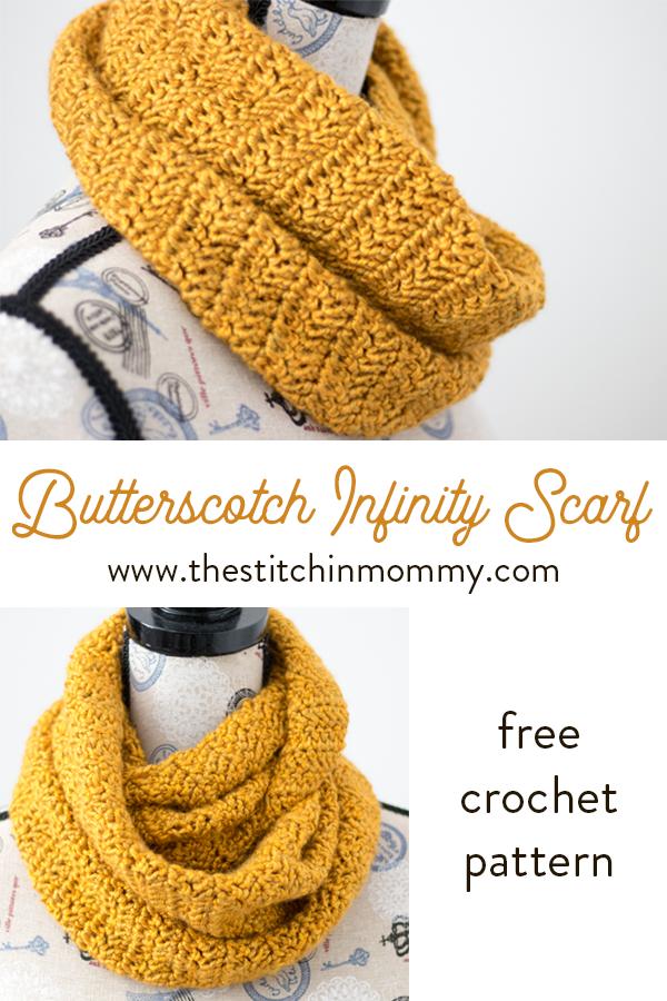 Butterscotch Infinity Scarf Free Crochet Pattern The Stitchin Mommy