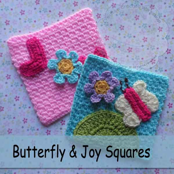Butterfly Crochet Afghan Pattern Free : Butterfly and Joy Squares - Free Crochet Pattern - The ...
