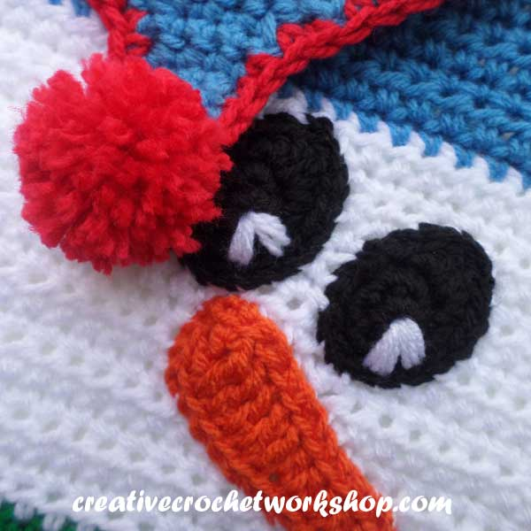 Snowman Afghan Square - Free Crochet Pattern - The ...
