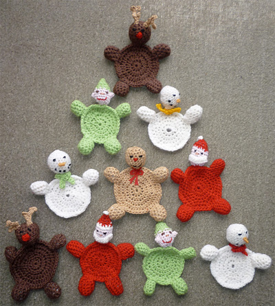 Free Crochet Santa Claus Coaster Pattern : 22 Fun, Festive, & Free Crochet Patterns for Christmas ...