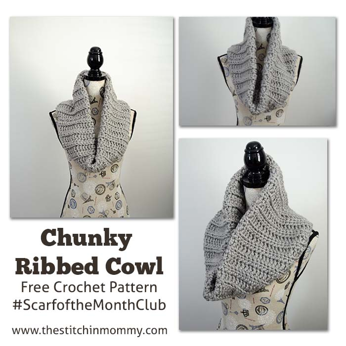 Chunky Ribbed Cowl - Free Crochet Pattern - The Stitchin Mommy