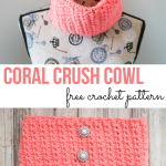 Coral Crush Cowl – Free Crochet Pattern