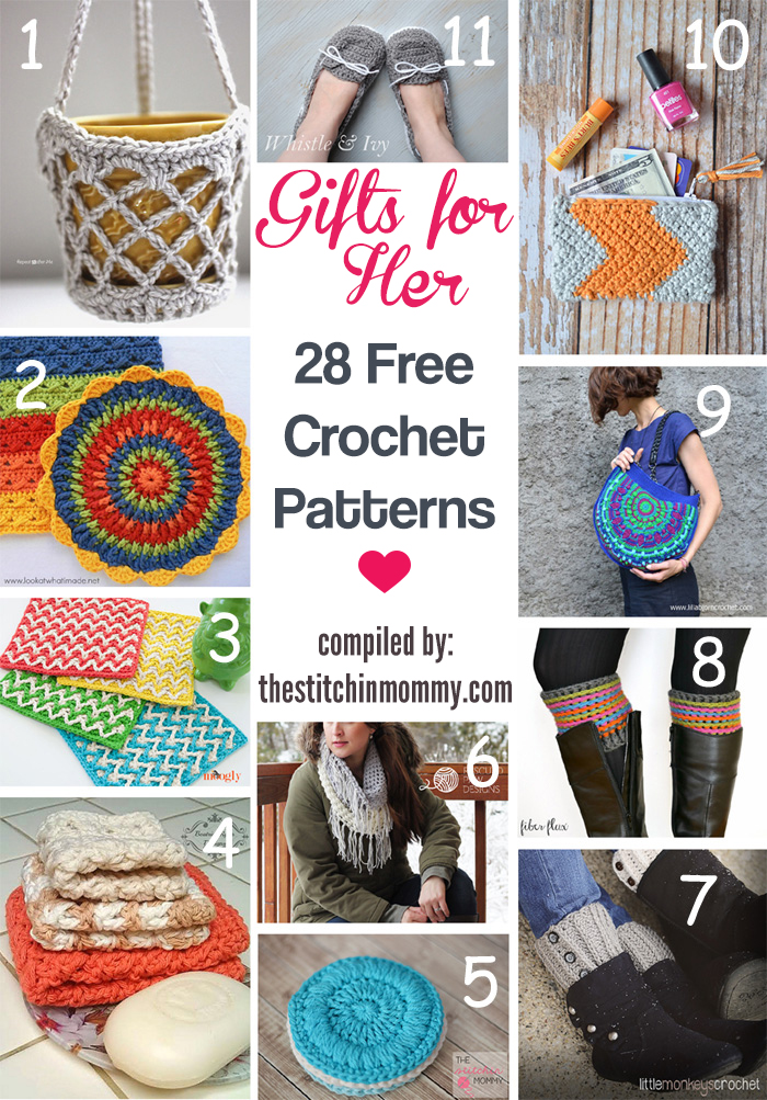 Handmade Gifts for Her - 28 Free Crochet Patterns - The ...
