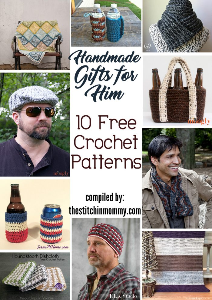 Handmade Gifts For Him 10 Free Crochet Patterns The Stitchin Mommy