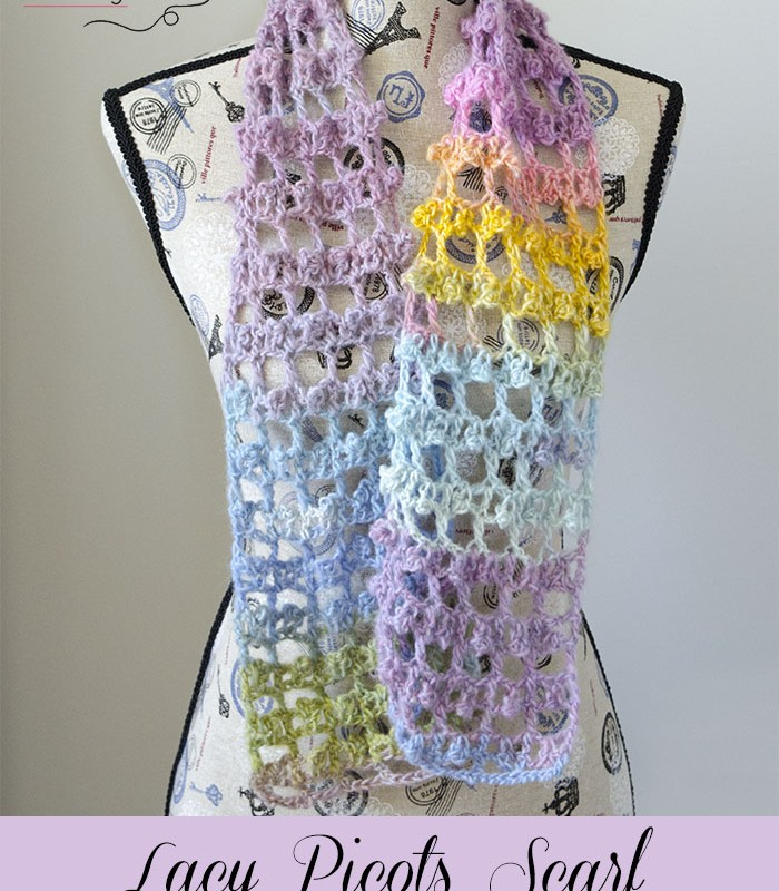 Lacy Picots Scarf – Free Crochet Pattern