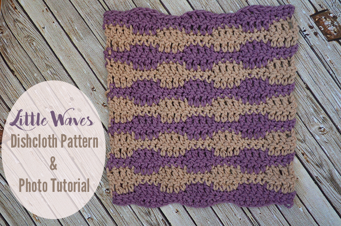 Let's Learn a New Crochet Stitch Pattern - Kitchen Edition: Little Waves Dishcloth and Photo Stitch Tutorial | www.thestitchinmommy.com