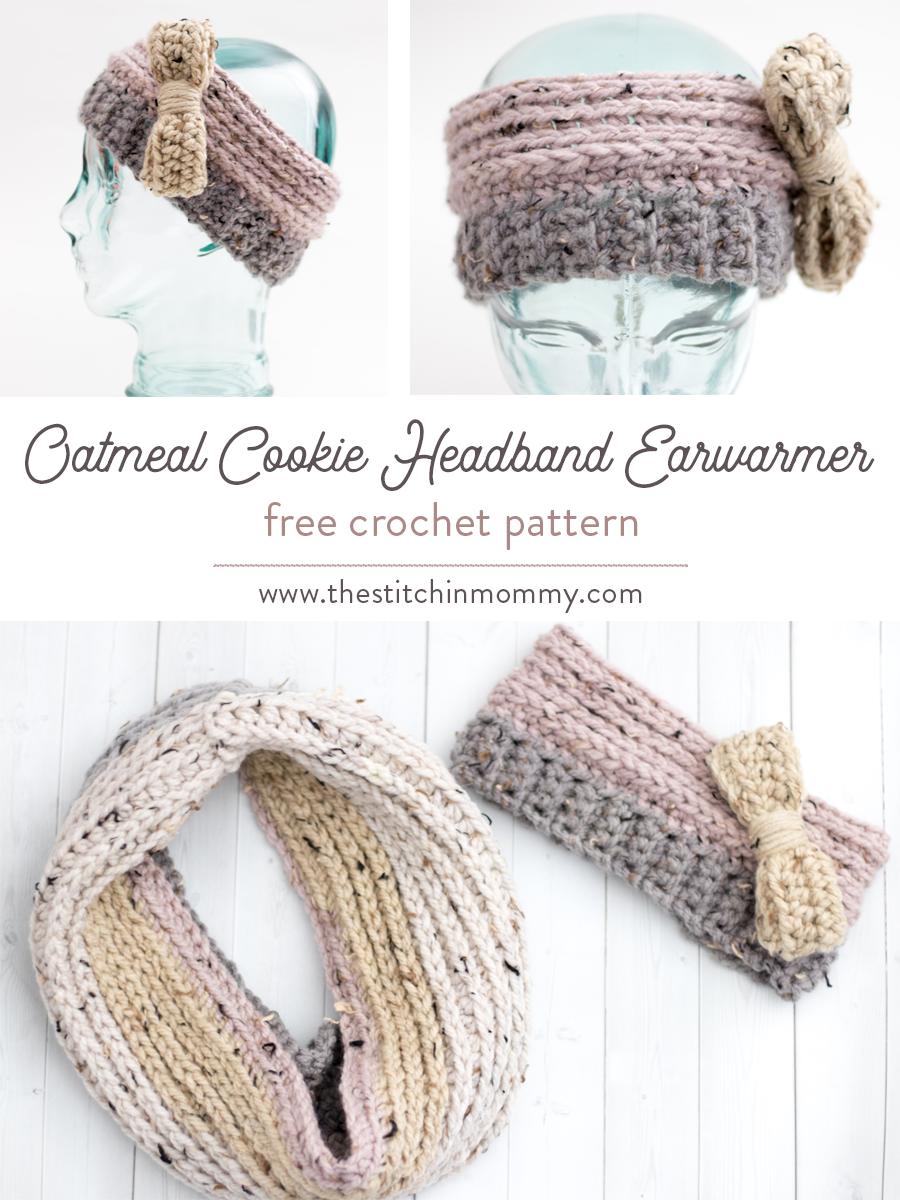 Oatmeal Cookie Headband Earwarmer Free Crochet Pattern