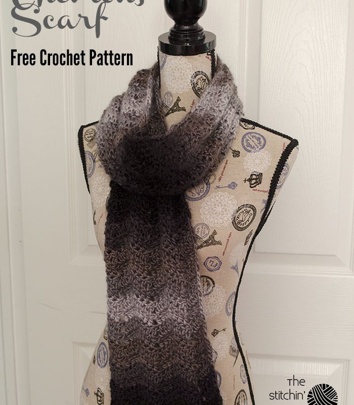 Ombre Chevrons Scarf – Free Crochet Pattern