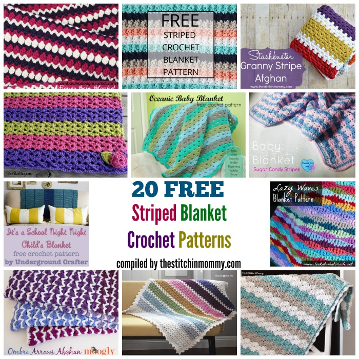 20 Free Striped Blanket Crochet Patterns