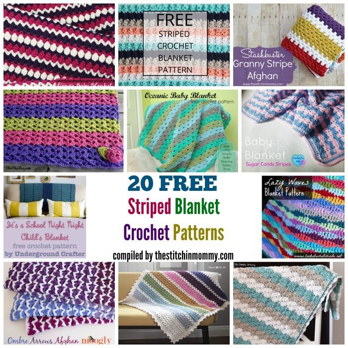 20 Free Striped Blanket Crochet Patterns The Stitchin Mommy