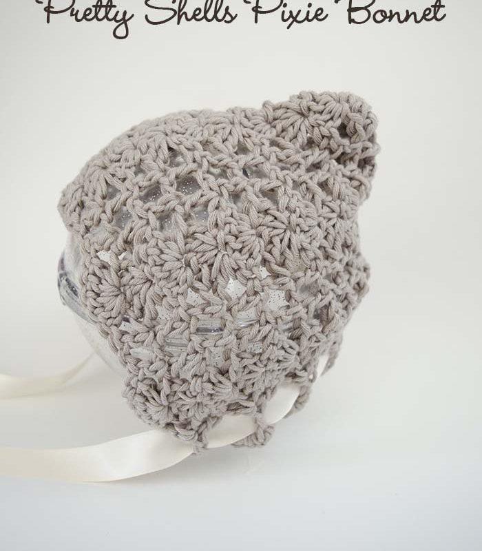 Pretty Shells Newborn Pixie Bonnet – Free Crochet Pattern