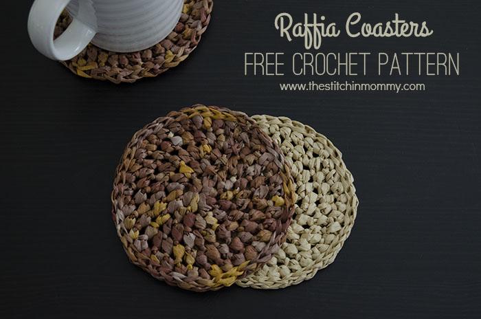 Raffia Coasters - Free Crochet Pattern | www.thestitchinmommy.com
