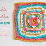 Shells Aflutter 12 Inch Afghan Square – Free Crochet Pattern