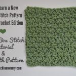 Spiked Box Stitch Tutorial and Dishcloth Pattern