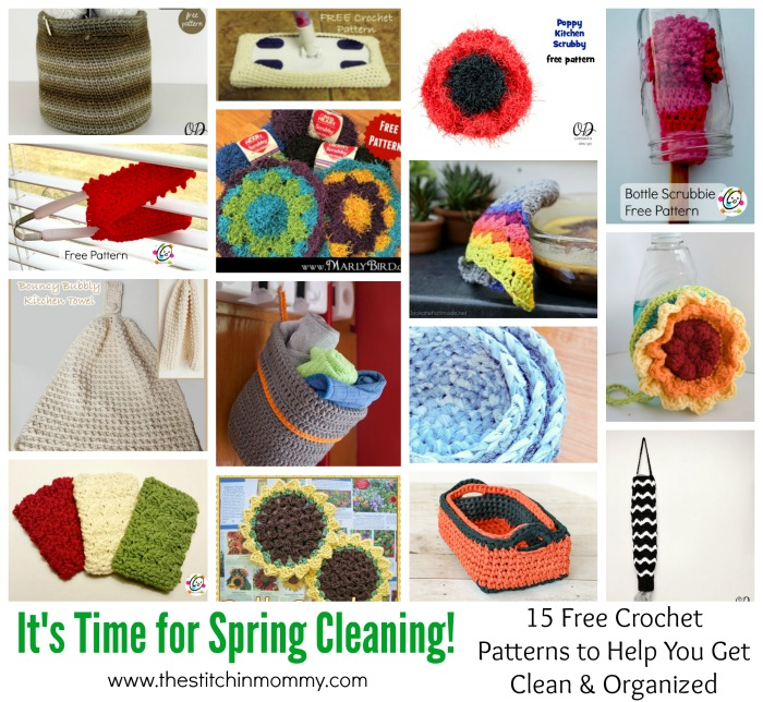 It's Time for Spring Cleaning! 15 Free Crochet Patterns to Help You Get Clean and Organized